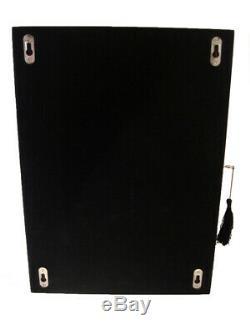 Wall Mounted Watch Storage Cabinet Chest Box Display Wooden Case Matt Black