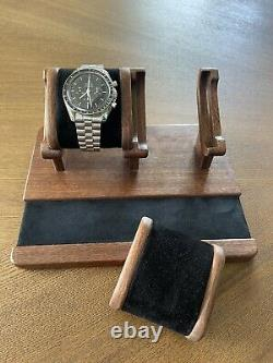 Watch Box Dual Display Case Organizer Wood Leather Desk Stand Jewelry Tray Lux