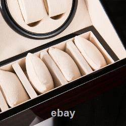 Watch Winder Automatic Rotation Wood Display Case Storage Electric Watch Winder