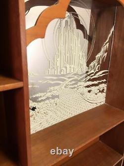 Wizard Of Oz Portrait Sculptures Wood Display Case Vintage Mirrored Curio