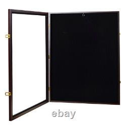Wood Jersey Shadow Box Wall Display Case Frame Wall Cabinet Baseball Football