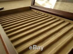 Wooden Pen tray with lid 15 Pens Display Case Box TOYOOKA CRAFT Made in Japan