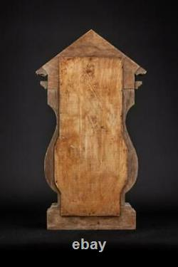 Wooden Shrine Antique Display Case for Statue Wood Carving Standing 21.3